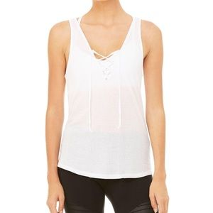 Alo interlace tank white